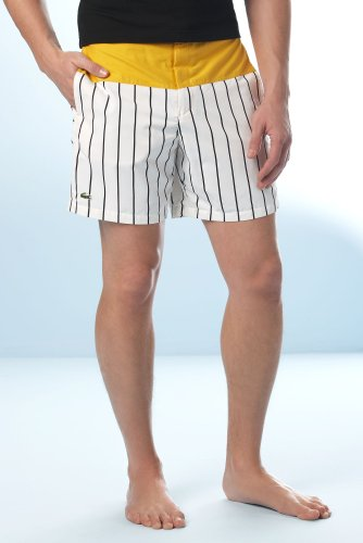 Color Block Stripe Swim Trunk 7