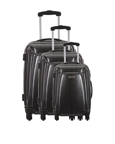 TRAVEL ONE Set de 3 trolleys rígidos Barite Negro
