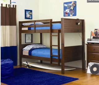 Popular Thanks for visit product the White OR Walnut Finish Convertible Twin Twin Wood Bunk Bed Kids Bunk Beds Can Be Stacked BunkBed or Separate Twin Beds