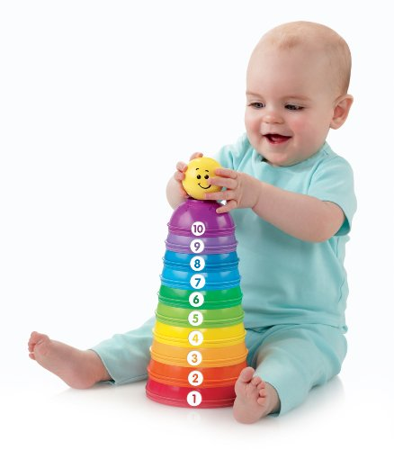 Fisher-Price Brilliant Basics Tazas Stack & Roll