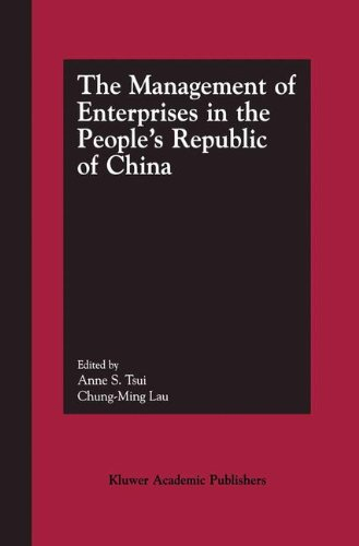 The Management of Enterprises in the People's Republic of China