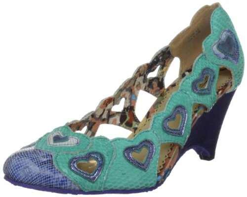 Poetic Licence Women's Queen Or Hearts Blue Wedges Heels 4017-3A 6 UK, 39 EU