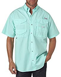 Columbia Men\'s Bonehead Short-Sleeve Shirt, GULF STREAM, XX-Large