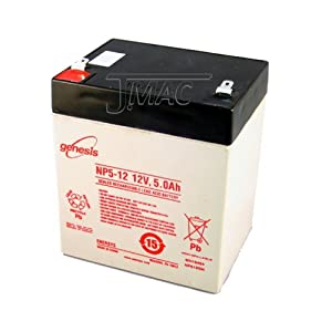 DJW12-4.5 12 Volt 5 AmpH SLA Replacement Battery with F1 Terminal