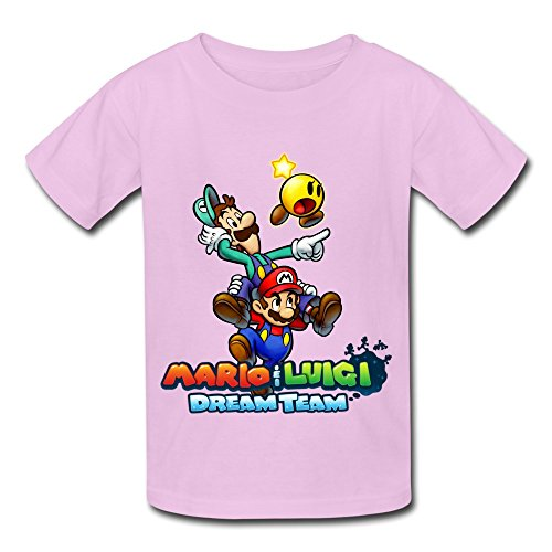 Kazzar Kid's Mario And Luigi Dream Team Round Collar T Shirt XL