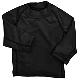 Molehill Kid\'s Long Underwear Tops, Black, 3T