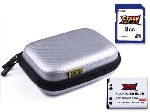 crazycaser-kit-custodia-rigida-di-colore-argento-carbonio-scheda-di-memoria-da-8-gb-in-classe-10-sdh