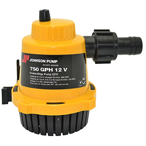 Johnson Pumps of America 22702 Marine Pro-Line 750 GPH Bilge Pump