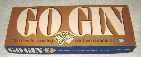 "Go Gin -- ""The new fascinating card word game by Ideal"""