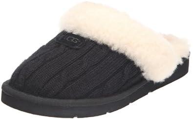 UGG Women's Cozy Knit Black Slipper 5 B (M)