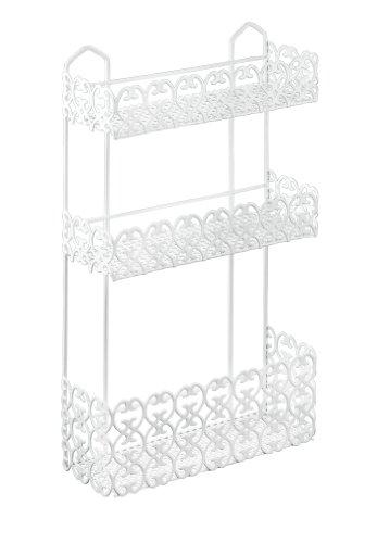 Metaltex - Florenz Scaffale triplo rettangolare per bagno