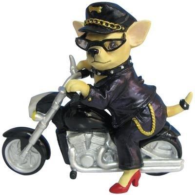 Aye Chihuahua Biker Figurine
