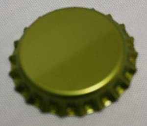 Gold Crown Bottle Caps (1 gross, 144 caps)