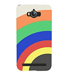 MULTICOLOURED CONCENTRIC RINGS PATTERN 3D Hard Polycarbonate Designer Back Case Cover for Asus Zenfone Max :: Asus Zenfone Max ZC550KL