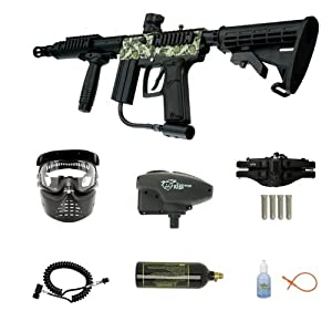 WaveToGo Azodin Tactical Series ATS+ Paintball Marker - Digi Camo Super Remote ER Overdrive 4+1 Combo