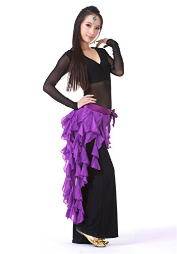 Dreamspell 2014 purple nine-tailed Fox Chiffon Leaf Skirt waist Hip Scarf