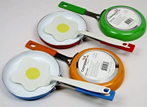 "Colorsplash ""Simply Eggs"" Non-Stick Mini-Fry Pan with Fried Egg Spatula"