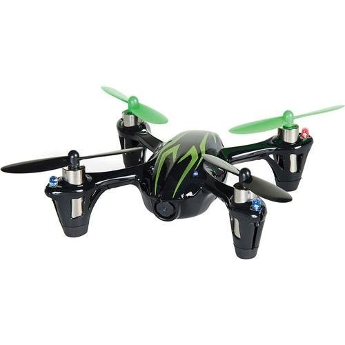 Hubsan 61170-02 4 Channel 2.4GHz RC Quad Copter with Camera (Green/Black) Model: HICH107CHDBG