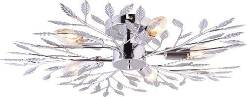 Leuchten Direkt 50015-17 - Lampadario da soffitto, 5 x E14 max 40W, Chrome