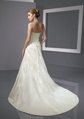 Radiant Taffeta with Embroidered Wedding Gown
