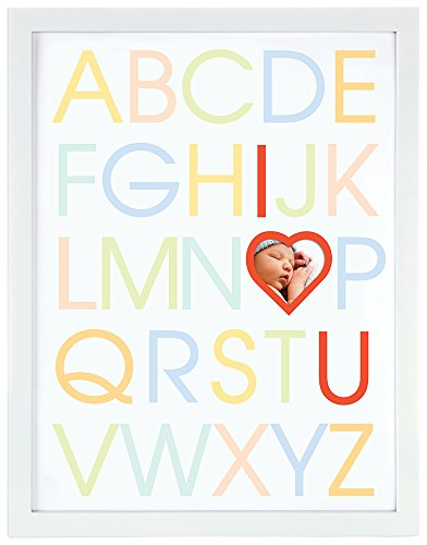 Pearhead Alphabet Photo Frame, White - 1