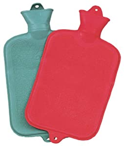 10''x7'' RUBBER HOT WATER BOTTLE (Colors may vary)