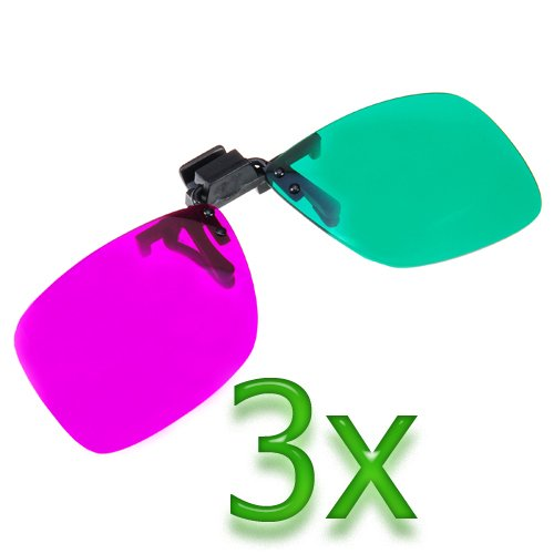GTMax 3x 3D Magenta/Green Glasses for watching