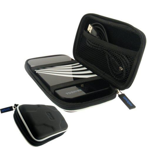 """igadgitz Hartschalentasche Hardcase: Tasche Schutzhülle Hülle Etui Case aus EVA (Ethylenvinylacetat) in Schwarz für externe tragbare Festplatte Toshiba STOR.E ALU, ART & STEELE Series 2,5"""" 2,5 Zoll (6,4 cms) 160gB, 250gB, 320gB, 400gB, 500gB & 640gB"""