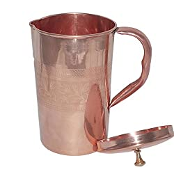 AsiaCraft Pure Copper Jug Embossed