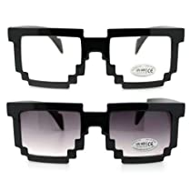 Pixel Clear Lens Glasses and Pixel Sunglasses - Two for Price of One