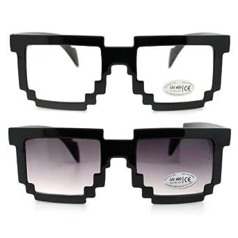 Amazon.com: Pixel Clear Lens Glasses and Pixel Sunglasses