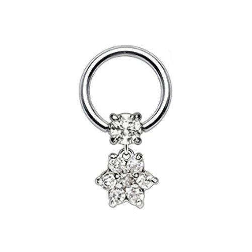 PunkJewelry Intimpiercing Bcr Ring Blume 316L Chirurgenstahl Picture