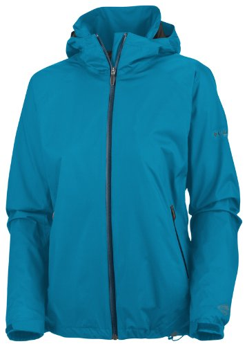 Columbia Women's Hot Thought Omni-Tech Jacket - Oxide Blue, X-Large