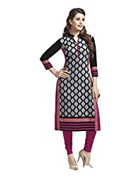 CHINTAN TEXTILES Ethnicwear Women's Dress Material GREY_Free Size