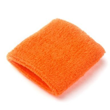 A Pair Of Bobo Sportline Wrist Band, Terry Cloth Wristband, Wrist Sweat Band, Sports Sweatband, Orange