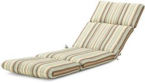 Strathwood Basics Hardwood Chaise Lounge Sunbrella Cushion, Scavo Willow by Casual Cushion Corp.