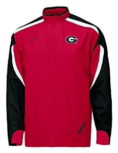 Georgia Bulldogs College Dri-FIT Red 2007 Light-Weight Full-Zip Unlined Wind Jacket by Nike