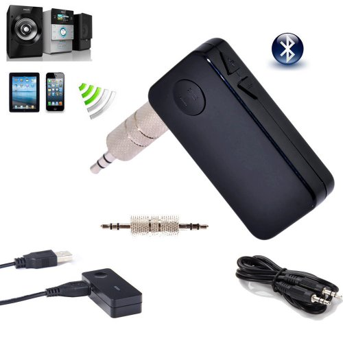 Portable A2Dp Wireless Bluetooth 3.0 Handsfree Car Home Audio Music Streaming Receiver Adapter With Hands Free Calling And 3.5 Mm Stereo Output