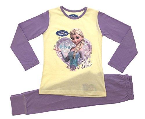 Disney -  Pigiama due pezzi  - Maniche lunghe  - ragazza Queen of Snow - Lemon/Lilac 7-8 Anni