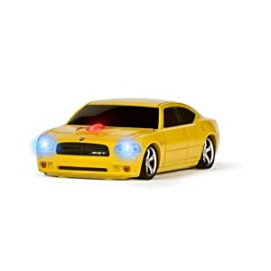 Wireless Mouse - Dodge Charger Yellow