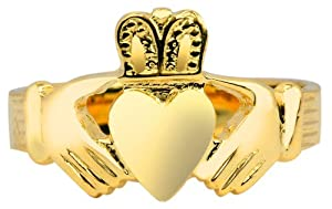 14K Gold Claddagh Ring Mens Solid (5)