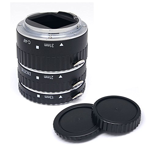 Mcoplus® - Tubo di prolunga Auto Focus Metal Macro per fotocamere Canon EOS EF EF-S SLR