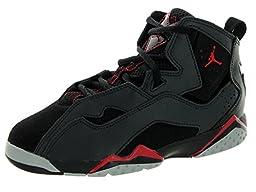Nike Jordan Kids Jordan True Flight Bp Black/Gym Red/Anthrct/Wlf Gry Basketball Shoe 12.5 Kids US