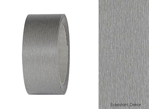 Decorazione effetto acciaio inox per i bordi dei mobili adesivo per i bordi in ebay - Bordi per mobili ...