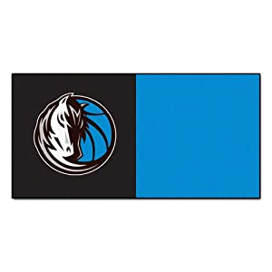 FANMATS NBA Dallas Mavericks Nylon Face Team Carpet Tiles by Fanmats