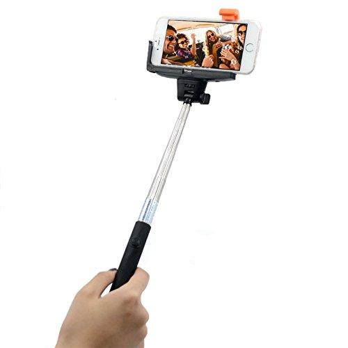 selfie stick fiblastiq extendable wireless bluetooth selfie stick with built in bluetooth. Black Bedroom Furniture Sets. Home Design Ideas