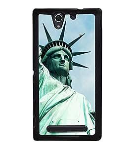 Statue of Liberty 2D Hard Polycarbonate Designer Back Case Cover for Sony Xperia C4 Dual :: Sony Xperia C4 Dual E5333 E5343 E5363