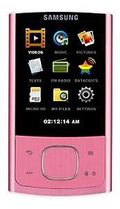 Samsung YP R 0 JC MP3-/Video-Player 8 GB (6,6 cm (2,6 Zoll) TFT LC-Display, FM-Tuner, Kartenslot, USB 2.0) pink