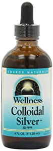 Source Naturals Wellness Colloidal Silver, 30 ppm, 4 Ounce