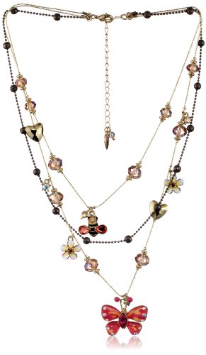 "Betsey Johnson ""Hawaii Luau"" Butterfly Illusion Necklace"